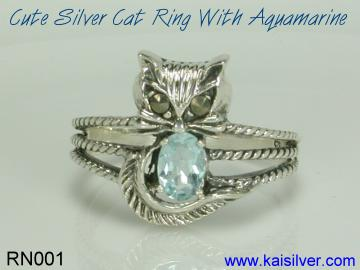 aquamarine gemstone ring