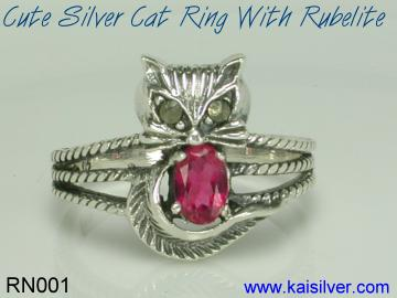 rubelite gemstone ring 925 silver or gold