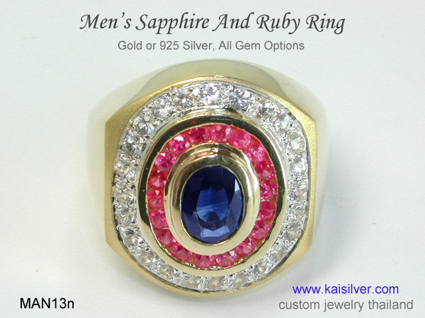 sapphire rings for men