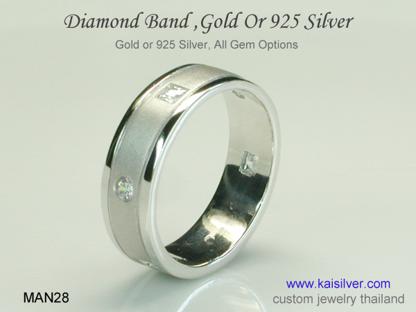 diamond engagement band