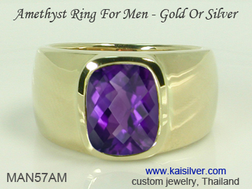 amethyst rings for men