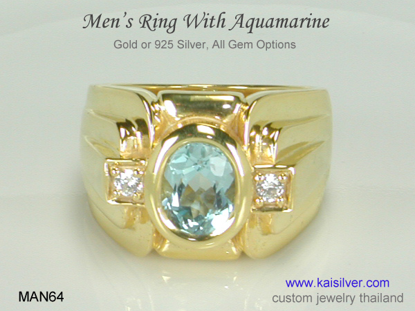 men's aquamarine rings