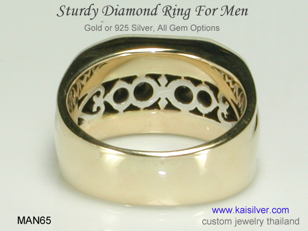 custom made men's diamond ring
