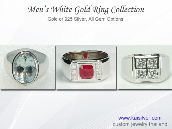 white gold rings for men