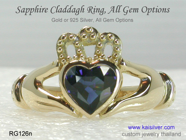kaisilver claddagh ring thailand