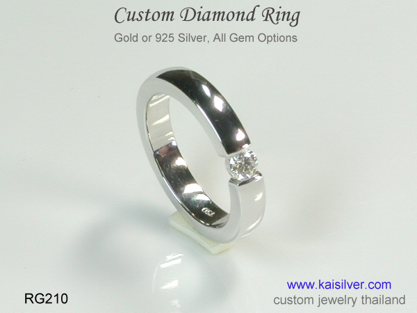 diamond rings gold or silver