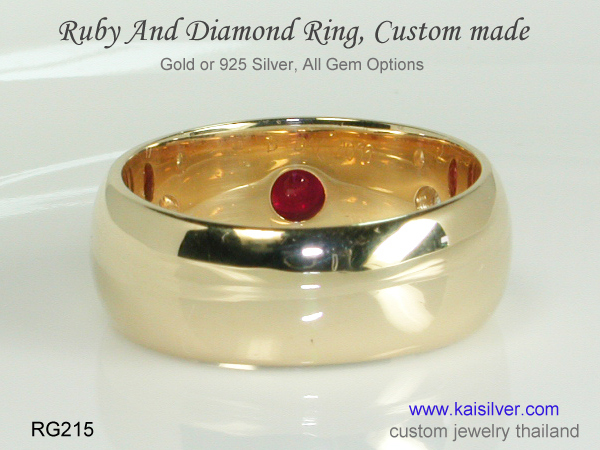 ruby gemstone ring for men and women