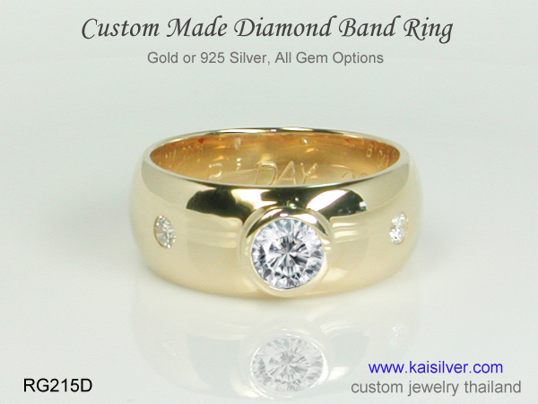 diamond band ring collection