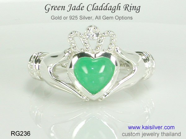 claddagh ring 925 silver